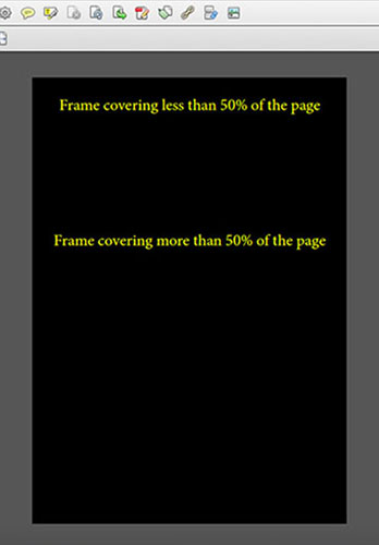 Page with customised colour scheme of yellow text on a black background