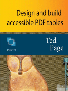 Ebook cover of Design and build accessible PDF tables