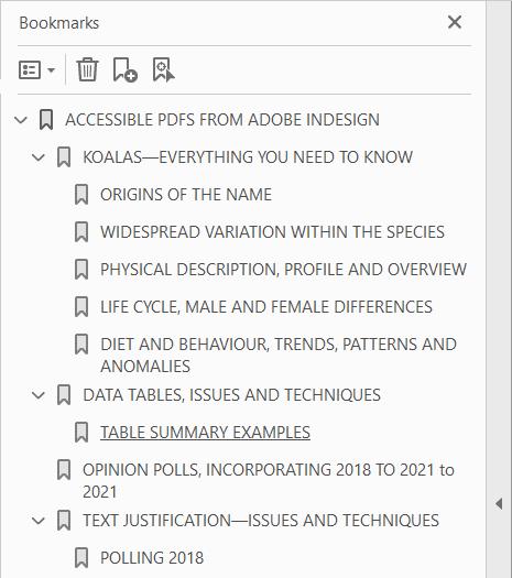Signets de PDF générés à partir de texte en majuscules